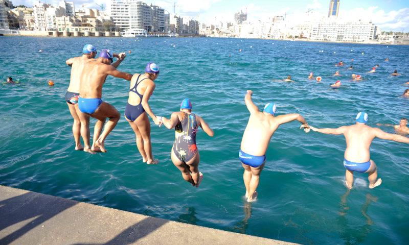 december, christmas charity swim, malta community chest fund